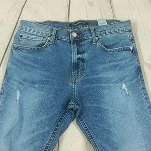 Men's Destroyed Calvin Klein Skinny Jeans 34× 32
